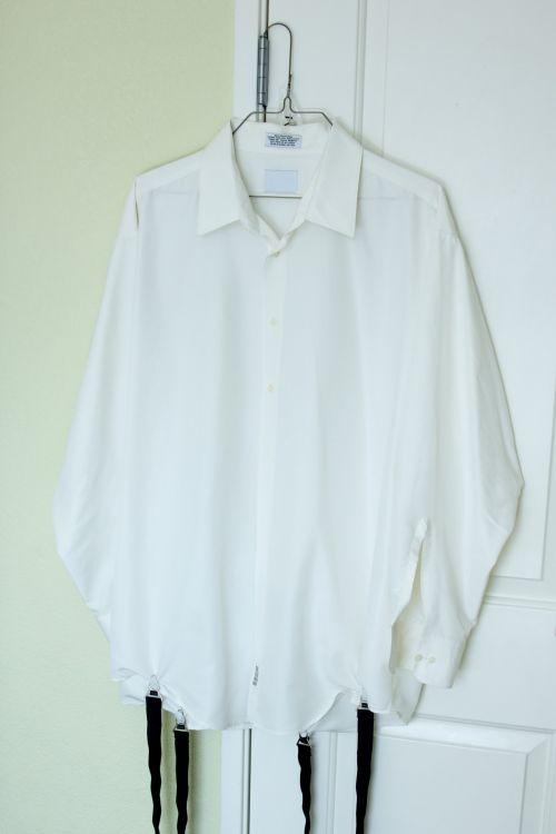 Hanging White Dress Shirt