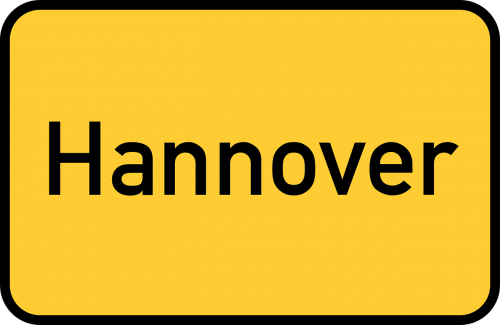 hannover hanover town sign