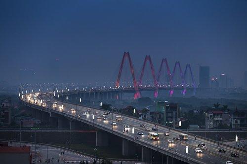 hanoi  nhat tan bridge  vietnam