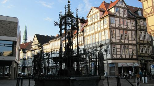hanover old town wood market fountain