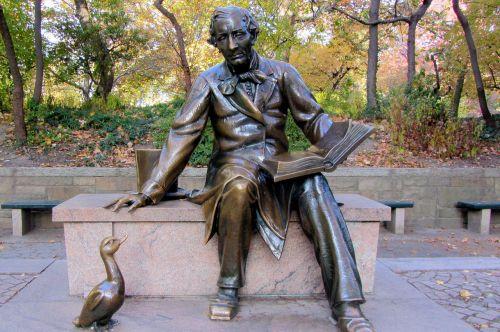 hans christian andersen sculpture central park