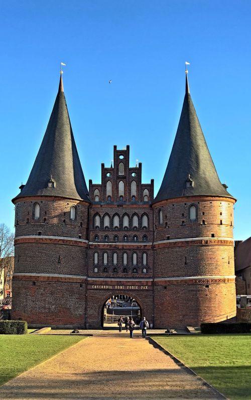 hanseatic city of lübeck holsten gate also holstein tor