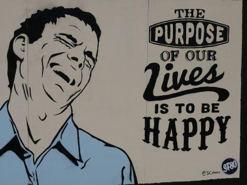 happy street art backdrop