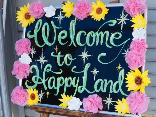happy billboard welcome