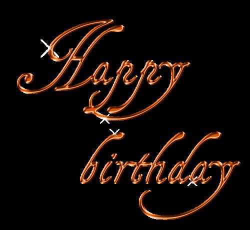 happy birthday lettering font