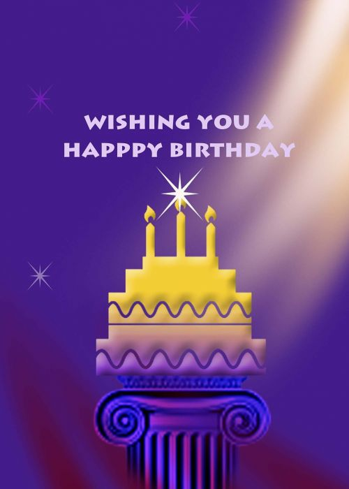happy birthday greeting card celebrate