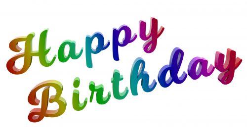 Happy Birthday Milkshake Text Title
