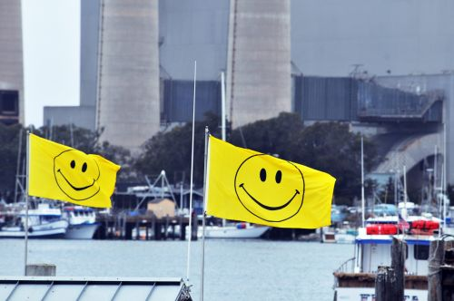 Happy Face Flags #1