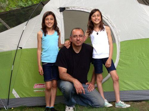 happy family camping family