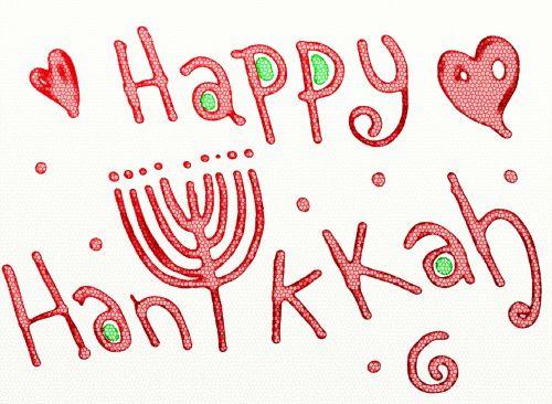 Happy Hanukkah Holiday Text