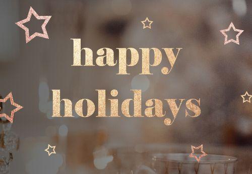 happy holidays holiday greeting
