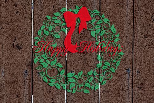 Happy Holidays Fence