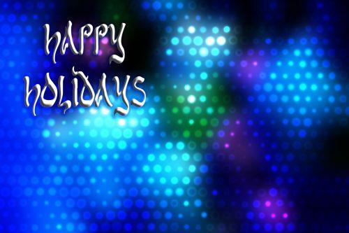 Happy Holidays Greeting Blue