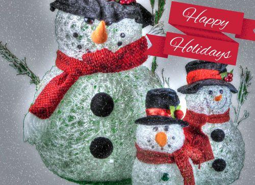 Happy Holidays Snowmen
