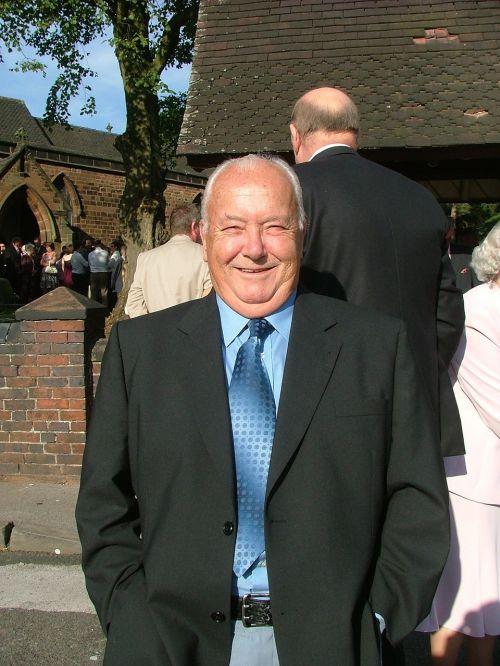 happy man wedding sun