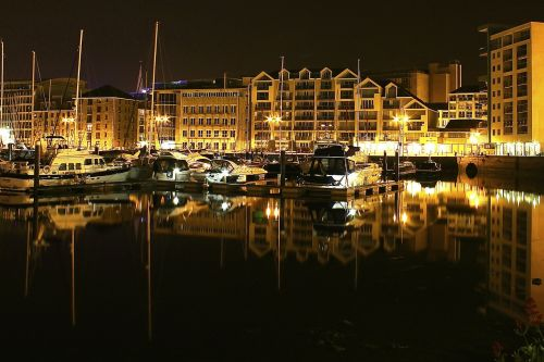 harbour night reflection