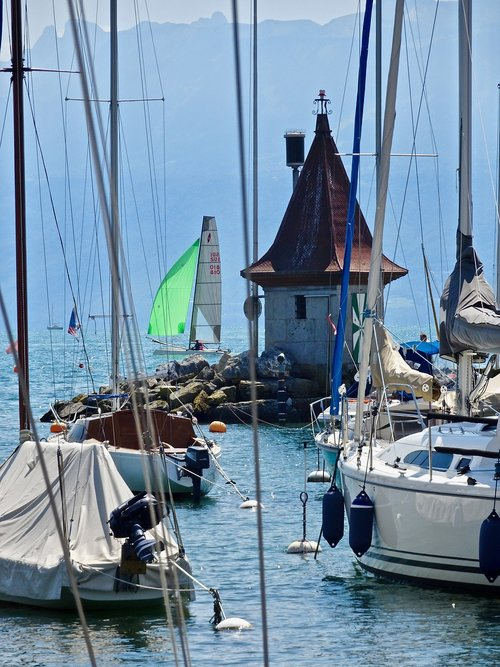harbour  sailboats  yachts
