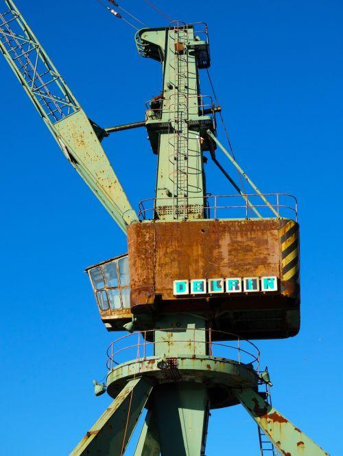 harbour crane crane load crane