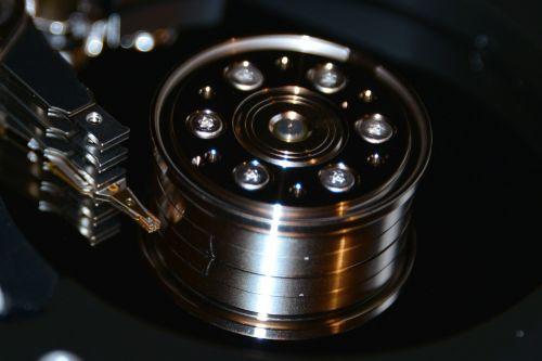 hard drive hdd macro