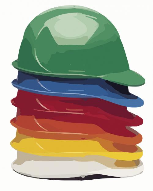 hard hat helmet construction worker