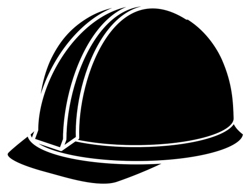 hard-hat black construction