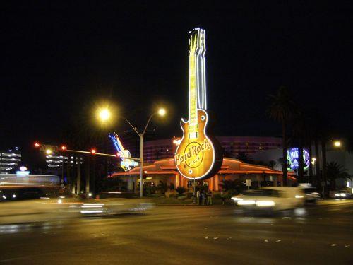 hard rock cafe neon sign
