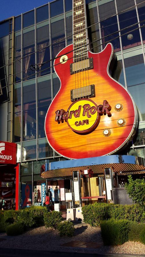 hard rock hotel las vegas guitar sign