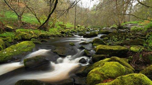 hardcastle crags  yorkshire  river