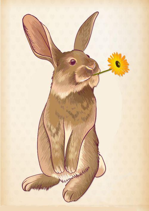 hare flower easter