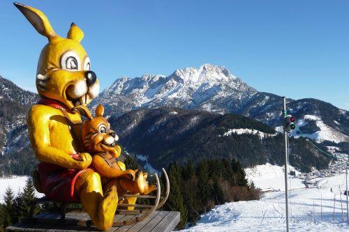 hare sleigh ride mountains