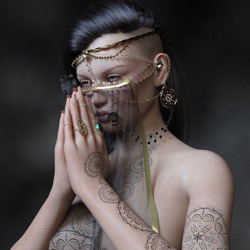 harem  indian  piercing