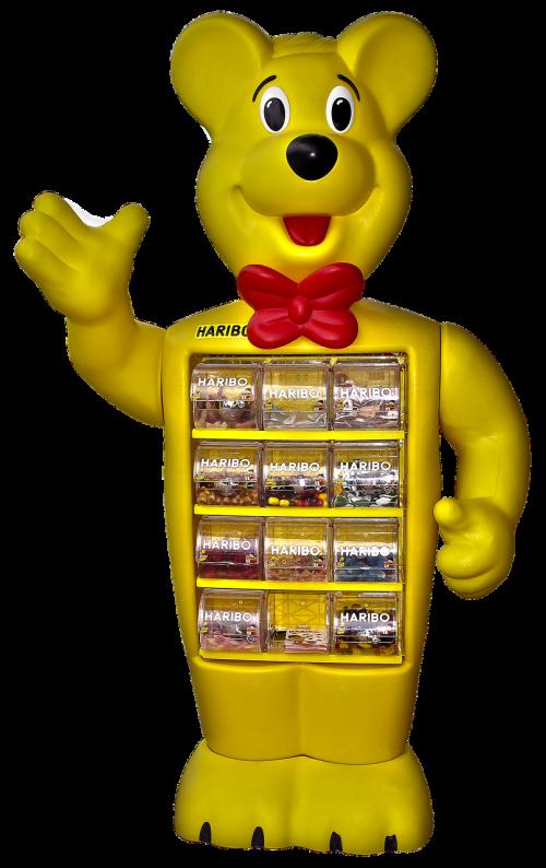haribo haribobär sales stand