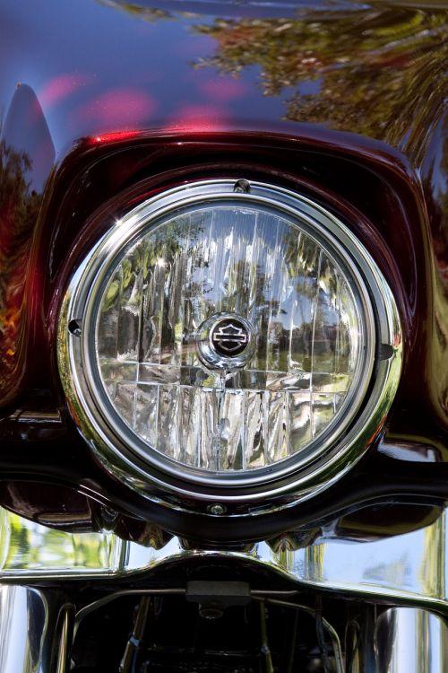 harley headlight bike