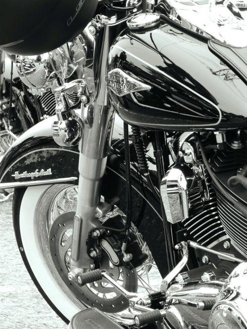 harley motorbike blackandwhite