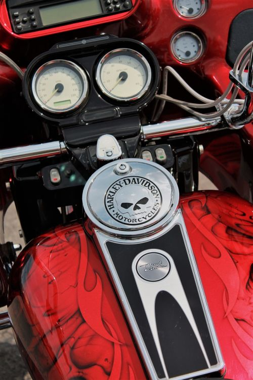harley davidson motorcycle red motorcycle