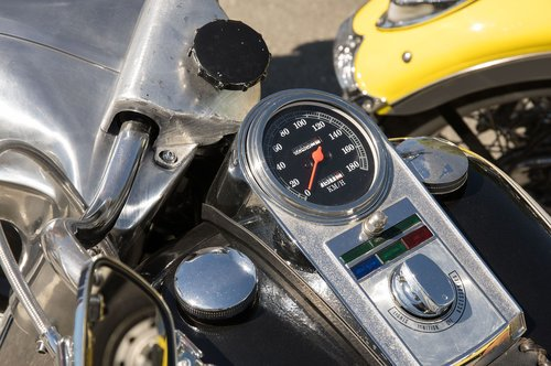 harley davidson  speedometer  motorcycle