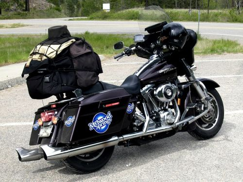 harley davidson black motorbike
