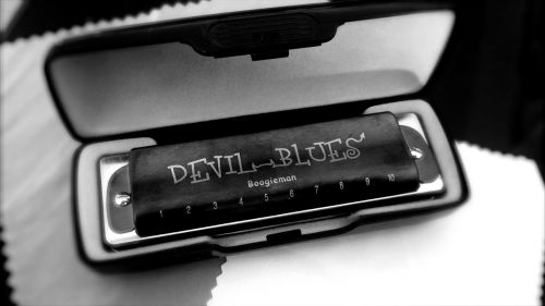 harmonica black and white blues