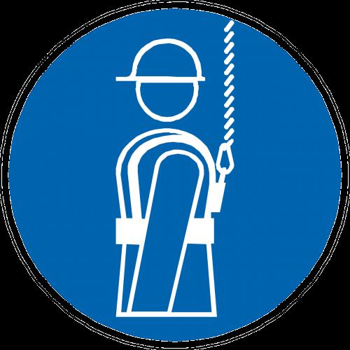 harness fall prevention gear blue