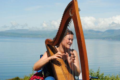 harp music street music