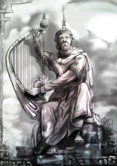 harp player ancient harp strings