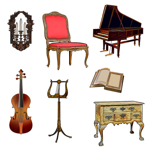harpsichord violin music stand