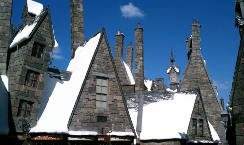 harry potter buildings snow