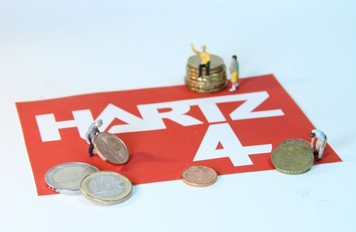 hartz 4  poverty  miniature figures