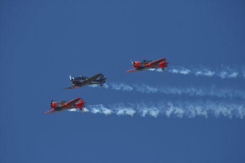 Harvards In Level Flight