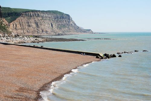 hastings shore cliff