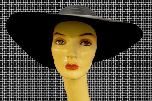 hat woman face