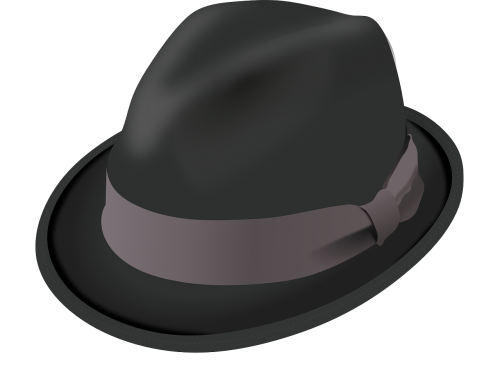 hat trilby black