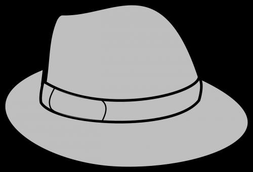 hat grey gray