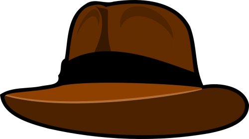 hat fedora brown
